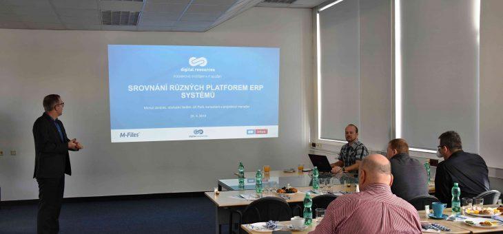 ICT snídaně: Srovnání různých platforem ERP systémů